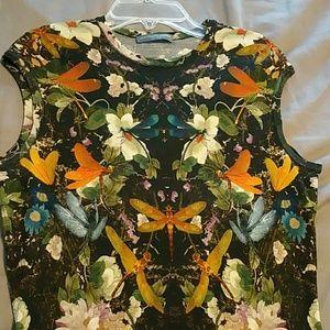 Alexander McQueen floral tank dress